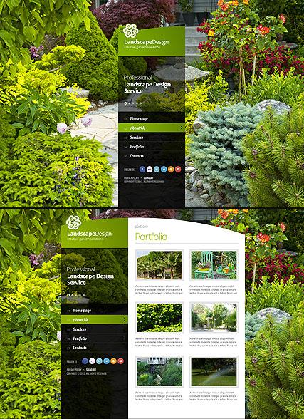 Landscape designing web template