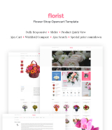 """Flower Shop"" OpenCart templater Responsive design"