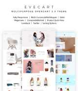 """Amazing Fashion Store"" OpenCart 3 template"
