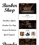 "Barber Shop ""Dandy Mott"" Adobe Muse Template"