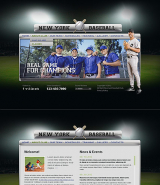 Baseball Club web template