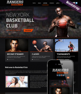 Basketball web template
