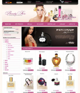 Beauty Store web template