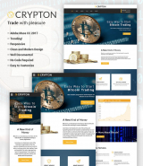 """Bitcoin and Cryptocurrency"" responsive Muse Template"
