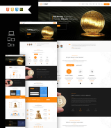"""Bitcoin CryptoCurrency"" responsive Muse Template"
