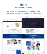"""Bitcoin"" Joomla Template Cryptocurrency theme"