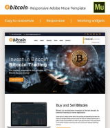 """Bitcoin"" Premium Adobe Muse Template"