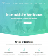 """Infinity"" Multipurpose HTML web template for business, finance"