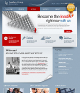 Business Leader web template