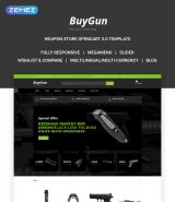 BuyGun - Weapons Store OpenCart Template