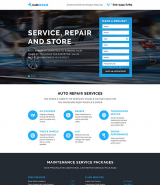 Car Repair Responsive Landing Page Template