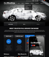 Car washing web template