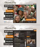 Charity Center web template