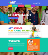 Children Art School Website Template