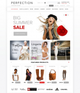Clothes web template