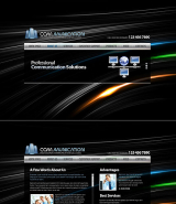 Communications web template