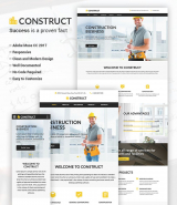 """Construction"" Adobe CC 2017 Muse Template"