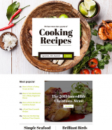 Cooking Responsive Landing Page Template