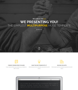 Multipurpose Parallax scrolling one page Muse template