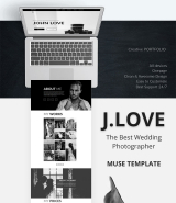 """My Creative Portfolio"" Adobe Muse template"