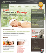 CSS Massage Salon web template