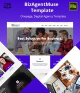 """Digital agency"" Adobe Muse Template"