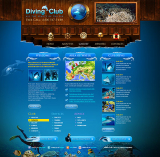 Diving Club web template