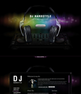 DJ Music web template