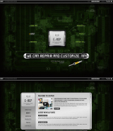 Electronic repair web template