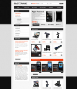 Electronic store web template