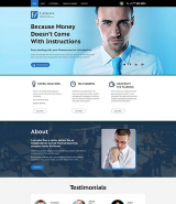 Financial Advisor Responsive Landing Page Template