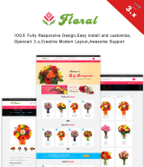 """Floral online store"" OpenCart template 3.x"