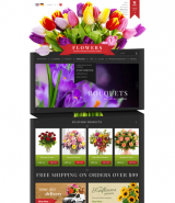 Flowers Shop web template