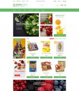Fresh Food - Healthy & Organic Food Store OpenCart Template