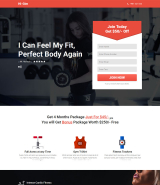 """Gym"" Landing Page Muse Template"