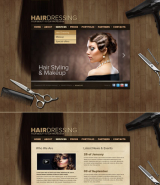 Hair Dressing web template