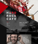 Hard Rock Cafe Joomla Template
