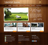 Horse Farm web template