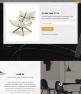 """Furniture shop"" HTML web template for online store"