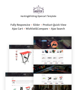 """Hunting and Fishing"" OpenCart Template for online store"