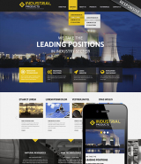 Industrial products web template