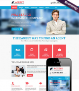 Insurance company web template