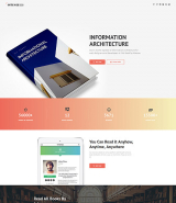 Intense Book Landing Page Template