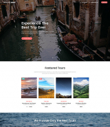"""Travel Agency"" Landing Page Template, parallax effect"