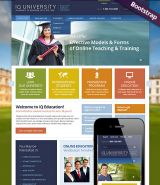 IQ University web template