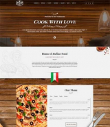 """Italian Restaurant and Pizza"" Wordpress template"