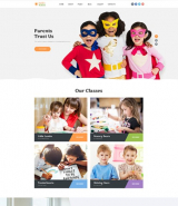 """Kids Center"" Joomla site template"