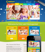 Kids Planet web template
