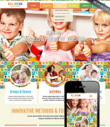 Kids studio web template