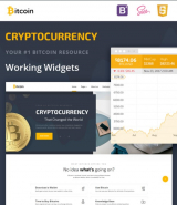 """Bitcoin Cryptocurrency"" responsive site template"